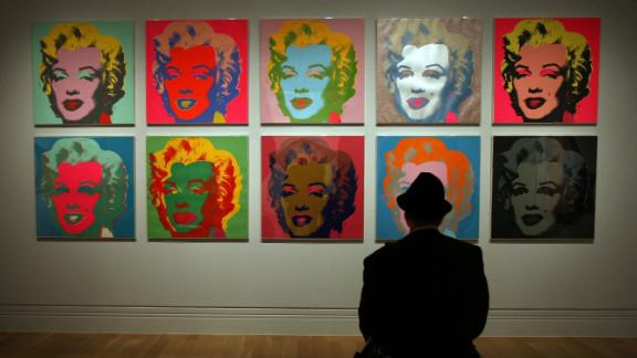 Marilyn Monroe was one of many celebrities Warhol used in his works.