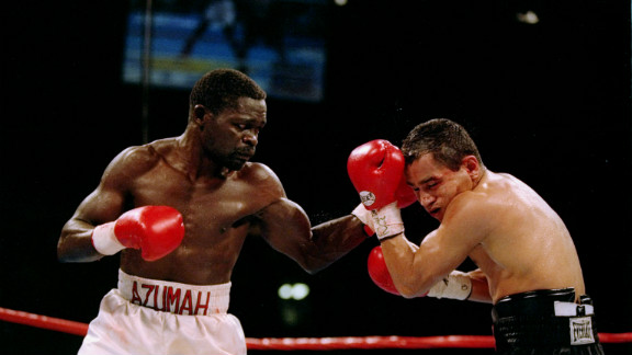 Azumah Nelson (left) is a Ghanaian boxing legend, often described as the best fighter to come out of the African continent.