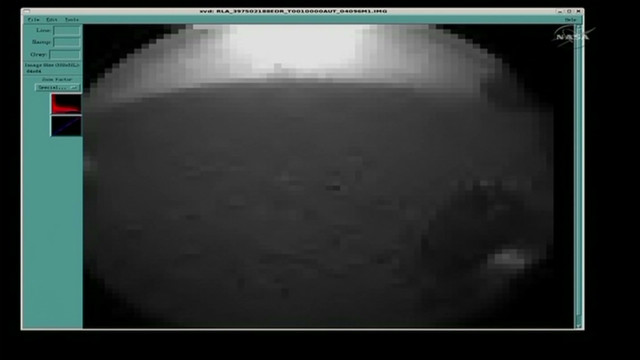 First images sent from Curiosity