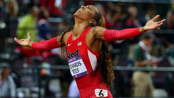 Sanya Richards-Ross wins the gold in the women