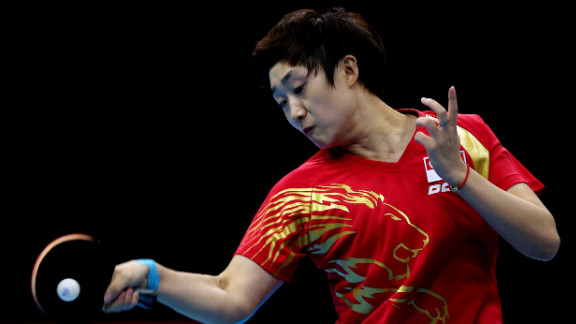Tianwei Feng of Singapore competes in the women