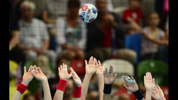 The Spanish handball team