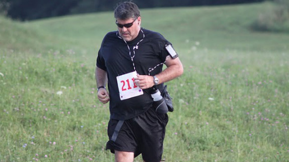 """Rucker runs his first 10K race at a 13-minute mile pace on July 30, 2011. """"I"""