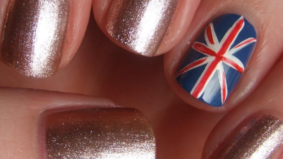 """Fitzpatrick created an equally stunning manicure featuring the Union flag """"to celebrate the host city"""" of London."""
