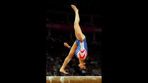 Alexandra Raisman of the United States competes in the women
