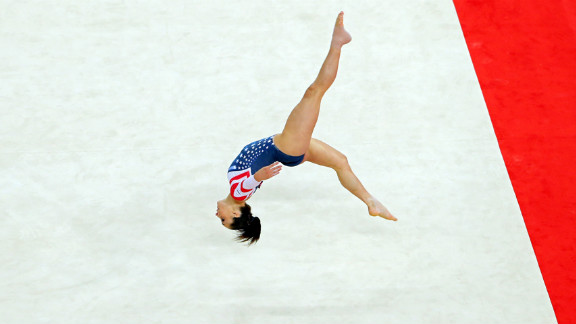 Jordyn Wieber of the United States competes during the gymnastics women