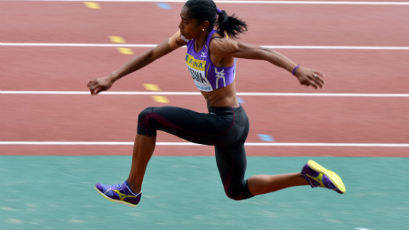 United Kingdom jumper Yamilé Aldama, 39, competed in the triple jump on Day 9 of the Summer Games. She