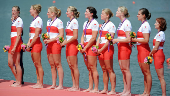 Lesley Thompson-Willie, far right, is the 52-year-old coxswain of Canada