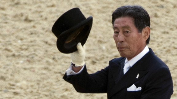 Who says an Olympic athlete has to be young to be spry? Seventy-one-year-old Hiroshi Hoketsu, competing for Japan in dressage -- a choreographed equestrian exercise that shows off a horse rider