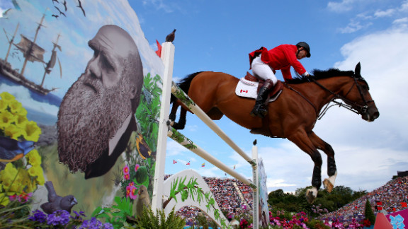 Ian Millar, 65, is riding Power Star, representing Canada in the Olympic power jump qualifiers. He
