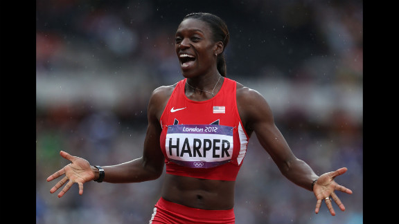 Dawn Harper of the United States competes in the women