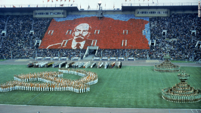 A choreographed show from the 1980 Moscow Summer Olympics.