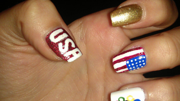 """Gabriela Medina even painted her toes to match! """"I love supporting and cheering on my team,"""" said the Wesley Chapel, Florida, resident. Medina likes to create nail art for various holidays, and says, """"you have to have a steady hand."""" Appropriately, the college student aspires to be a surgeon."""