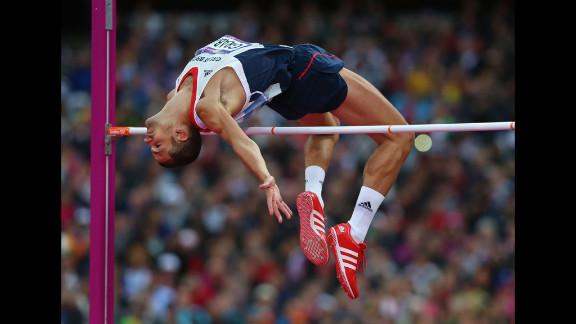 Robert Grabarz of Great Britain competes in the men