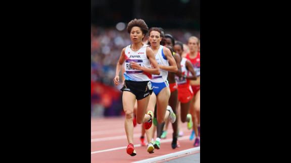 Kayoko Fukushi of Japan leads the pack in the women