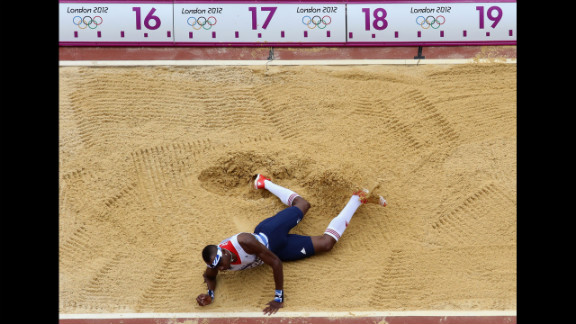 Phillips Idowu of Great Britain competes in the men