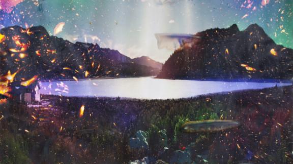 "Although an ""organic"" image of Sylvan Lake, Brandt"