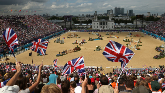 The equestrian events were held at Greenwich Park, a historic part of south-east London near the site of the city
