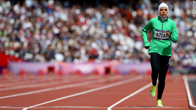 Sarah Attar was one of two Saudi women allowed to compete in the 2012 Olympic Games.