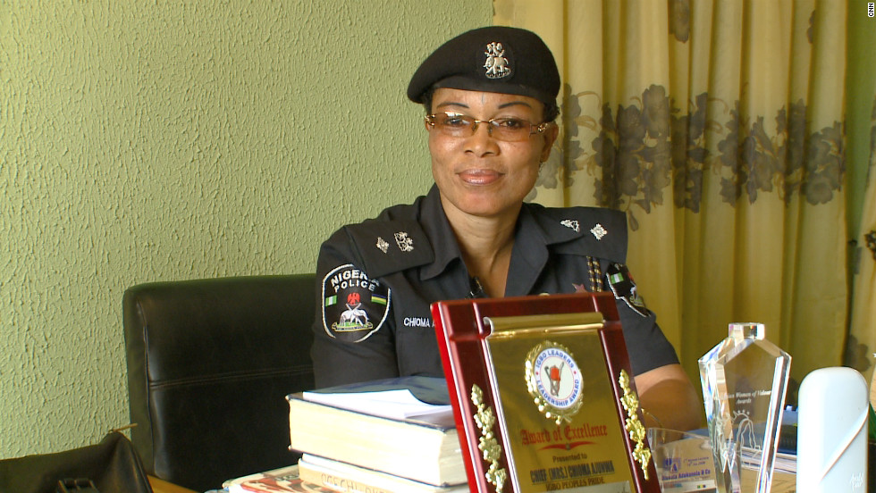 Ajunwa joined the police force long before winning the long jump gold medal in Atlanta. She is now a commanding officer at a police station in Lagos.