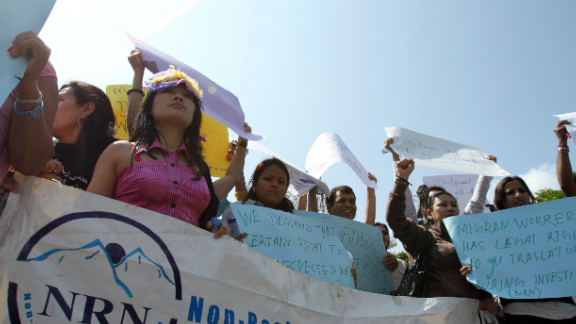 Nepal hopes to curb abuse for women by imposing a ban on migrant workers under 30 from working in Gulf states.