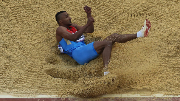 Lyukman Adams of Russia competes during the men