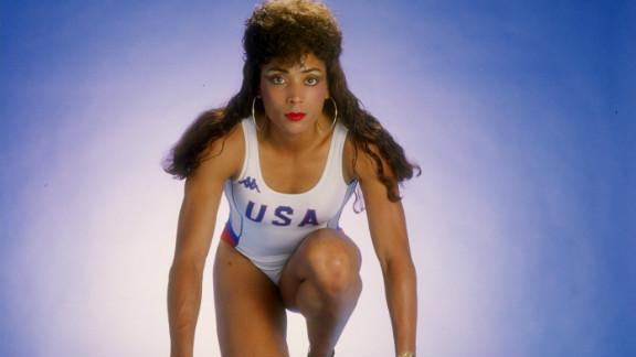 Flo Jo became known as much for her flamboyant outfits, painted nails and long hair as her running. After her Seoul triumph she had the world at her feet.