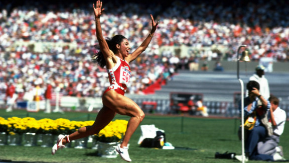 She won her first gold medal in the 100 meters, demolishing the field in the process.