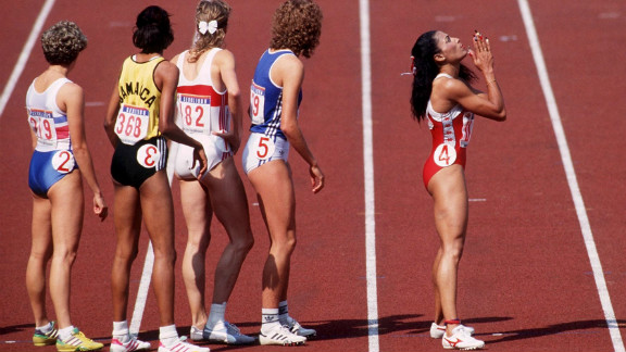 Her final gold came in the 4x100 meter final. She had often been overlooked in the relay as successive coaches feared her trademark long nails would get in the way of the baton change. They didn't.