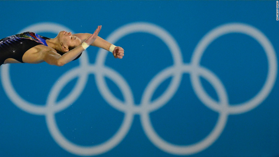 Malaysia's Pandelela Rinong Pamg competes in the final of the women's 10-meter platform during the diving event.