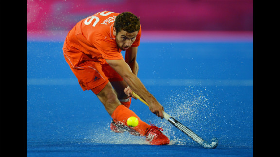 Valentin Verga of the Netherlands competes during the men