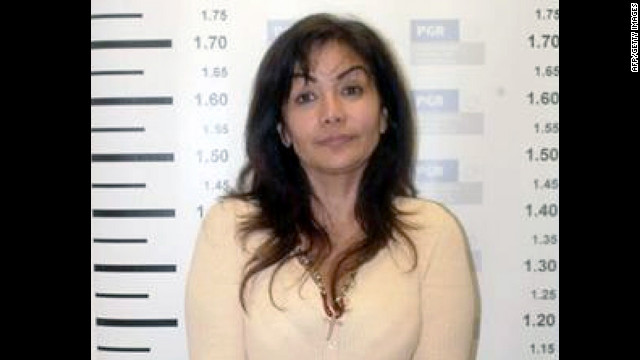 "Handout picture released by the Federal Police of mug shots of Sandra Avila Beltran, also known as the ""Queen of the Pacific, "" taken upon her arrest in Mexico City on September 28, 2007. The recent book ""Las jefas del narco"" (The narco bosses), coordinated by Universidad Autónoma de Sinaloa's researcher Artura Santamaria, informs about how the death of thousands of drug traffickers during the last five years in Mexico promoted many of their wives, sisters and daugthers to key posts previously reserved to men inside the drug cartels."