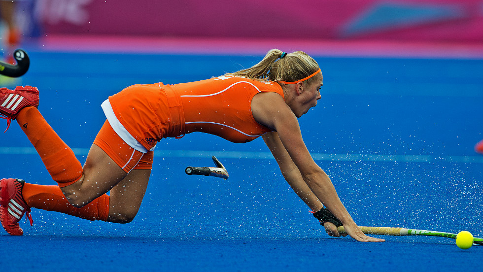 The Netherlands and New Zealand contest a grueling women's hockey semifinal, with the match finish level at 2-2 after extra-time. In the end it was reigning Olympic champions the Netherlands who held their nerve in the penalty shootout and advanced to the final, where they will face Argentina.