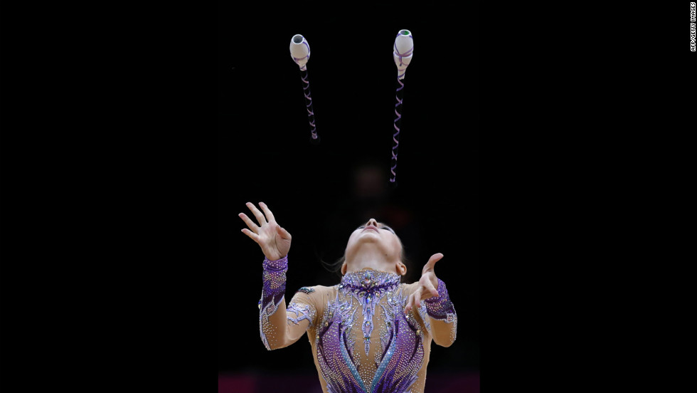Some Olympic routines were literally eyeball-popping.