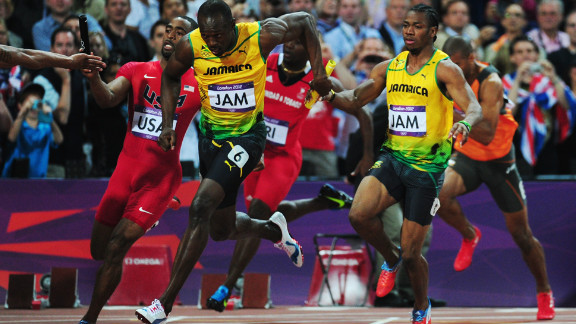 Everyone came to see Usain Bolt, and he did not disappoint. The 25-year-old Jamaican won three gold medals at the London Olympics; two individually (100m and 200m) and one in a team event (pictured above -- the men