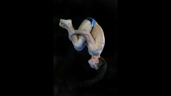 David Boudia performs in the men