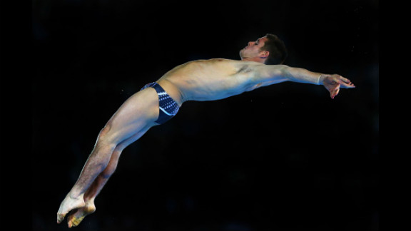 American David Boudia performs a dive in the the men