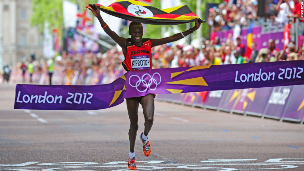 Uganda won its second Olympic gold medal when Stephen Kiprotich won the men's marathon on the final day -- coming 40 years after the first earned by John Akii-Bua in the 400-meter hurdles.