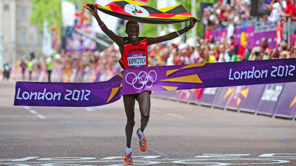 Uganda won its second Olympic gold medal when Stephen Kiprotich won the men