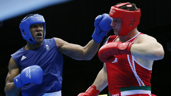 British boxer Anthony Joshua, won gold for his nation in the final of the super-heavyweight division by beating Italy