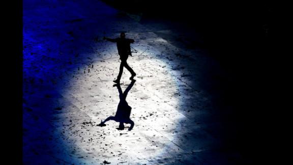 Global artist George Michael performs.