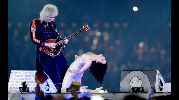 Brian May of Queen performs alongside Jessie J.