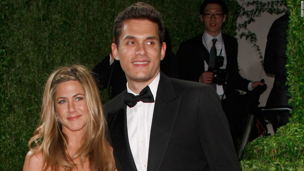 "John Mayer and Aniston, pictured here in 2009, dated on and off for about a year. Though his <a href=""http://marquee.blogs.cnn.com/2012/05/22/john-mayer-says-his-shadow-days-are-over/"" target=""_blank"">""Shadow Days"" are over</a> now, in 2010 Mayer opened up to <a href=""http://www.rollingstone.com/music/news/john-mayers-dirty-mind-lonely-heart-new-issue-of-rolling-stone-20100119"" target=""_blank"">Rolling Stone</a> about his split with Aniston, saying, ""I've never really gotten over it. It was one of the worst times of my life."""