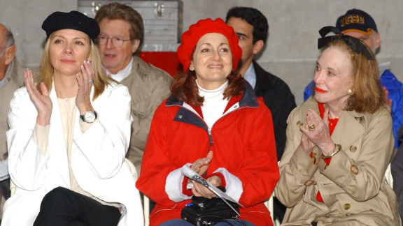 From left, actresses Kim Cattrall and Robin Strasser appear with Gurley Brown in 2003 at the Parkinson's Unity Walk in New York's Central Park.