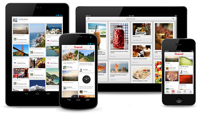 Social-bookmarking service Pinterest has unveiled a trio of new apps, including for the Android, iPad and iPhone.