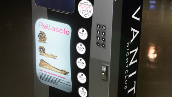 Trade in your stilettos for ballet flats at Rollasole machines located outside some Las Vegas nightclubs.