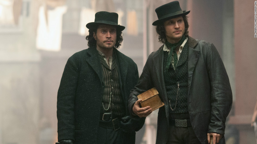 Corcoran and detective Francis Maguire, played by Kevin Ryan, sport costumes that were modeled on a combination of Billy the Kid and Mick Jagger's outfits from the 1970s.