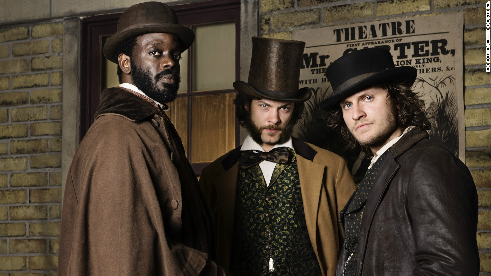 Ato Essandoh, Kyle Schmid and Tom Weston-Jones' charactersof Dr. Matthew Freeman, Robert Morehouse and detective Kevin Corcoran (from left to right) lead three distinctly different lives in 1864 New York.