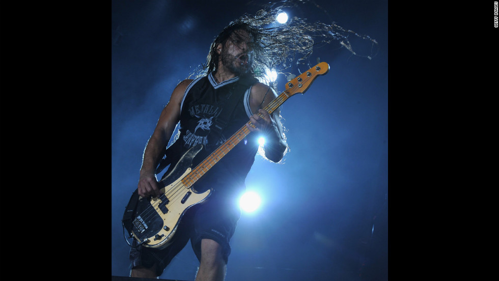 Robert Trujillo of Metallica. The band doesn't voice its political opinions.