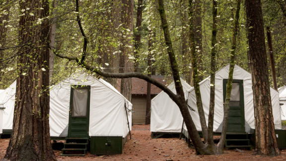"""Most of the six cases at Yosemite National Park were in people who stayed at the park's popular Curry Village """"tent cabins."""""""